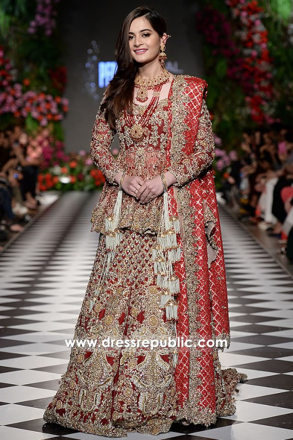 DR15219 Pakistani Designer Dresses for Winter 2018 Wedding UK