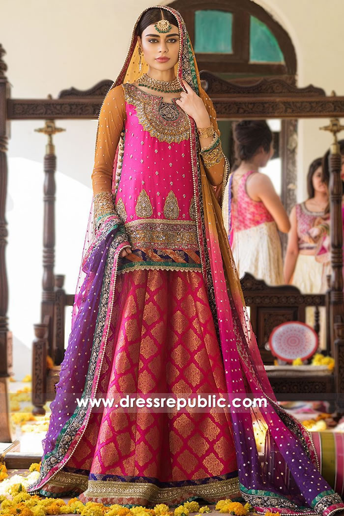 DR15223 Zainab Chottani Lehenga Choli for Mehndi Henna Night Buy Online