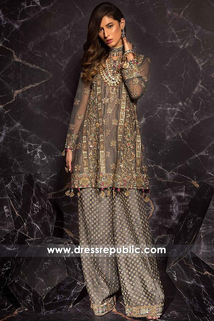DR15261 Mahgul Formal Dresses 2019 Saudi Arabia, UAE, Kuwait, Qatar, Bahrain