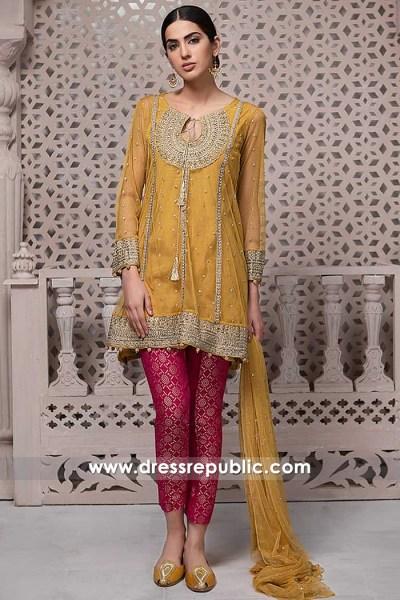 DR15291 Pakistani Mehndi Dresses 2019 Canada Toronto, Mississauga, Vancouver