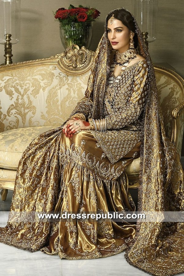 DR15295 Traditional Pakistani Wedding Gharara 2019 Maryland, Virginia, Florida