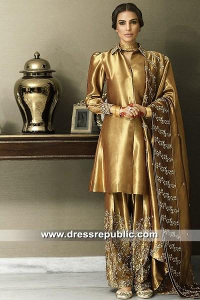 DR15308 Pakistani Designer Dresses in Tissue Organza USA, UK, Canada, Europe