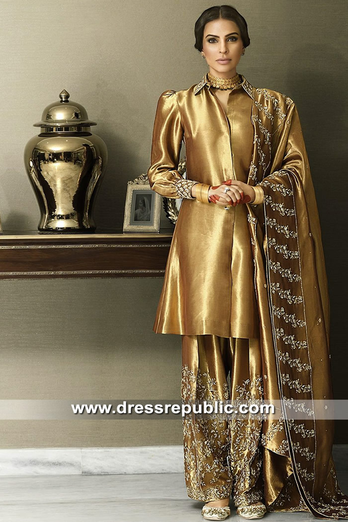 DR15308 Pakistani Designer Dresses in Tissue Organza USA, UK, Canada, Europe