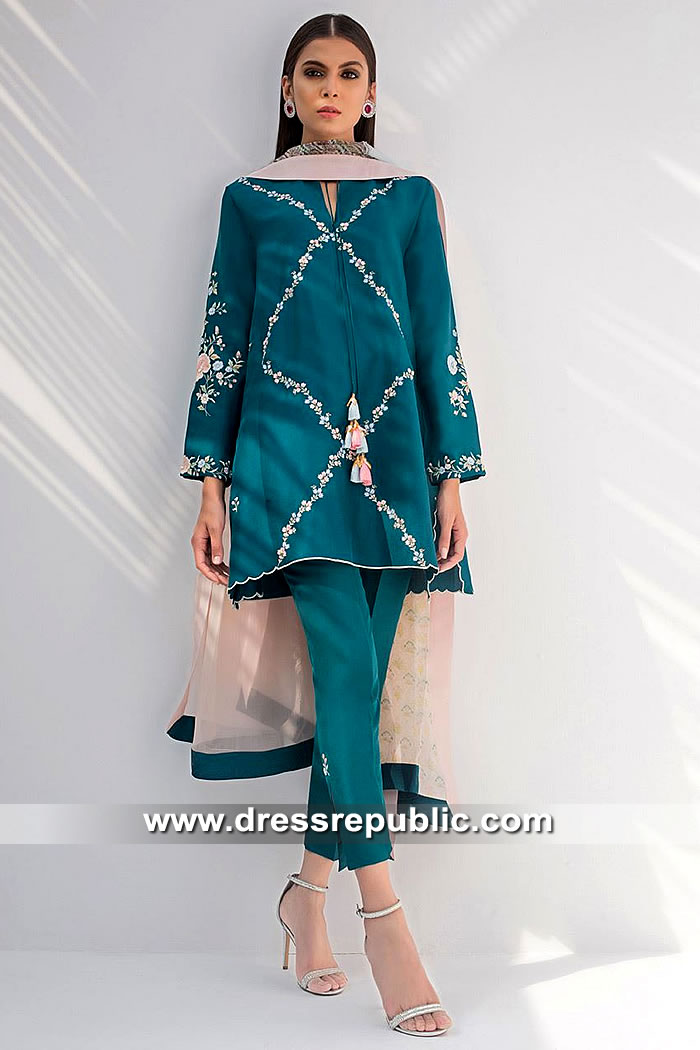 DR15405 Eid 2019 Teal Green Kurti Style Online New York, New Jersey, USA