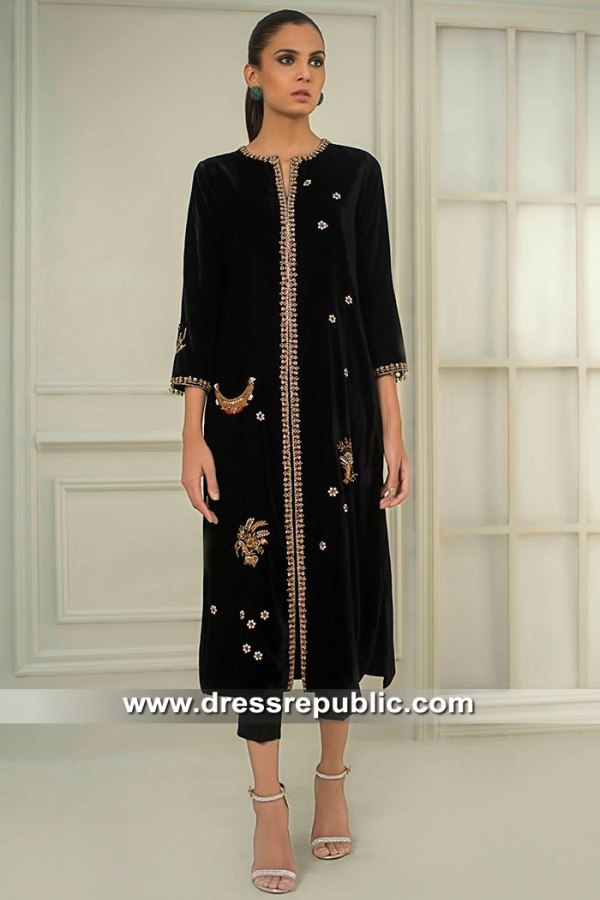 DR15414 Eid 2019 Velvet Dress Buy Online in Sydney, Perth, Melbourne