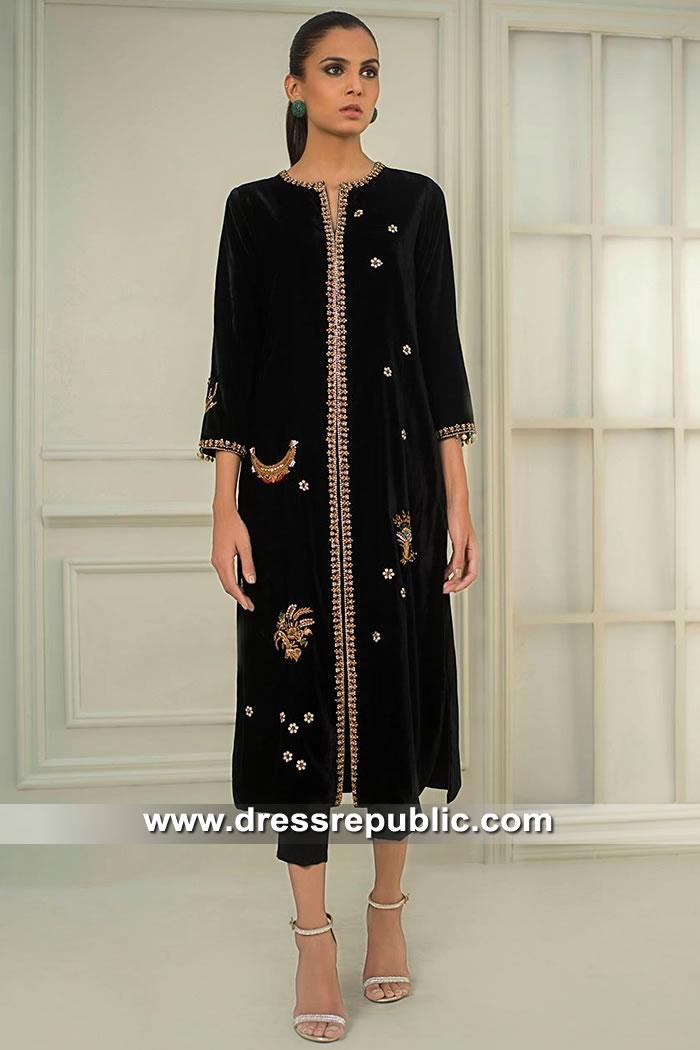 DR15414 Eid 2019 Velvet Dress Buy Online in Sydney, Perth, Melbourne