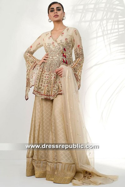 DR15419b Eid 2019 Designer Sharara Dress Buy in Houston, Dallas, Texas