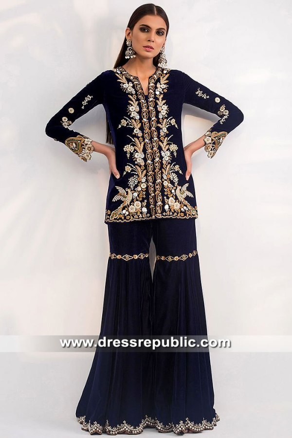 DR15450 Sania Maskatiya USA Dhaka Pajama Dress Buy in New York