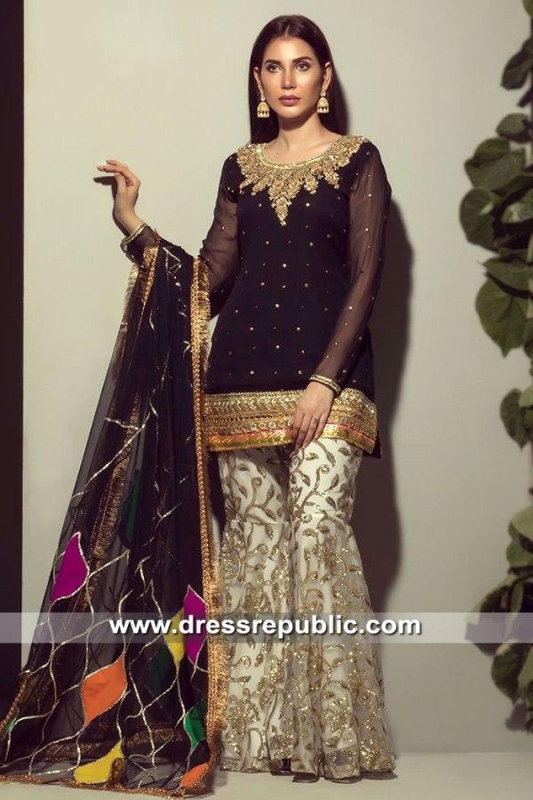 DR15516 Rozina Munib Kamdani Eid Collection 2019 in Aurora, Chicago, Illinois
