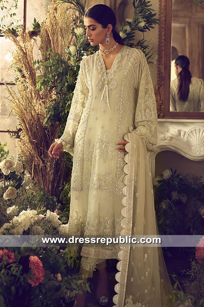 DR15613 Pale Green Formal Dress for Nikkah Bride Buy in London, Manchester, UK