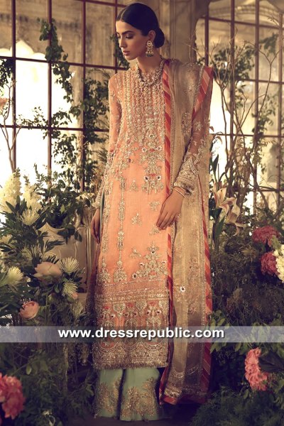 DR15614 Apricot Chiffon Bridal Dress for Engagement Bride Buy in USA Online