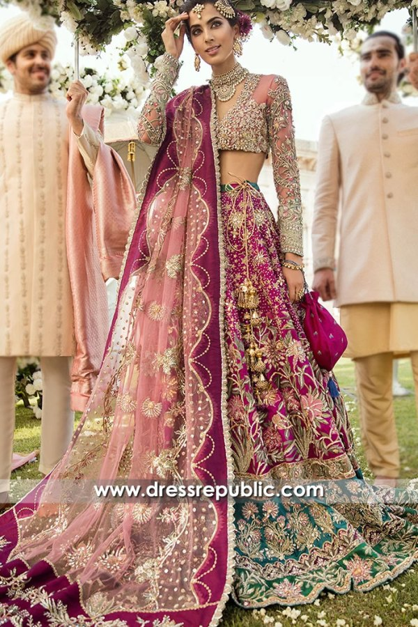 DR15706 Pakistani Bridal Dresses Collection Hicksville, Jackson Heights, New York