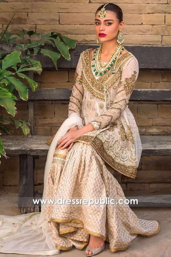 DR15753d Pakistani Designer Angarkha Dresses 2020 USA, Angrakha Styles Online