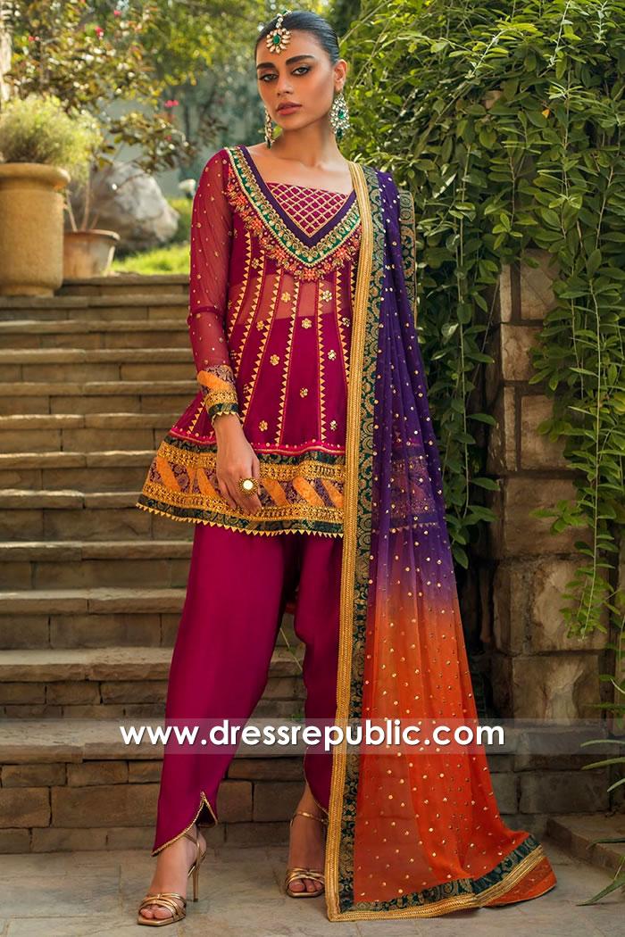 DR15754b Zainab Chottani Mehndi Mayoon Function Dresses 2020 Online