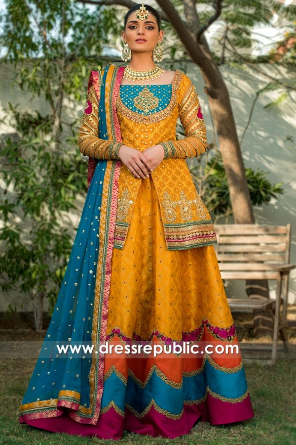 DR15756 Chatapati Dress For Mehndi Henna, Chata Patti Lehenga Hinna 2020