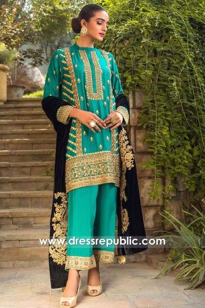 DR15770 Shalwar Kameez with Velvet Shawl 2020 Salwar Kameez Online Shop
