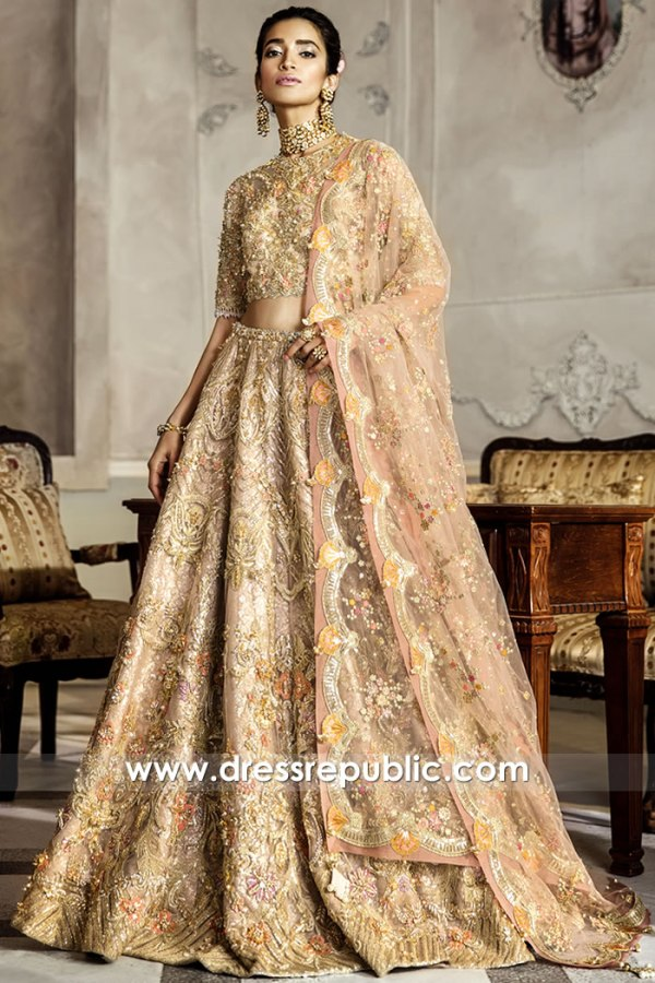 DR15775 Pakistani Designer Lehenga 2020 Collection Buy Online in USA
