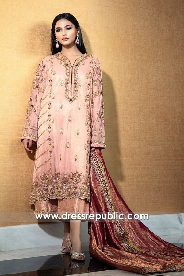 DR15778 Pink Shalwar Kameez Dress For Wedding Function in California, USA