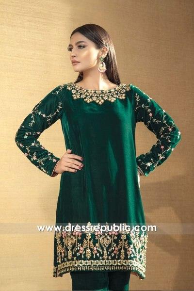 DR15781 Emerald Shalwar Kameez Online Buy Manchester, Birmingham, UK