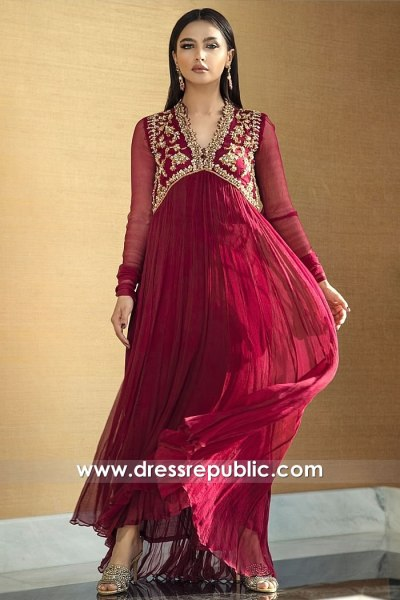 DR15784 Velvet Kaftan with Hand Embroidery Buy Online in USA, Canada, UK