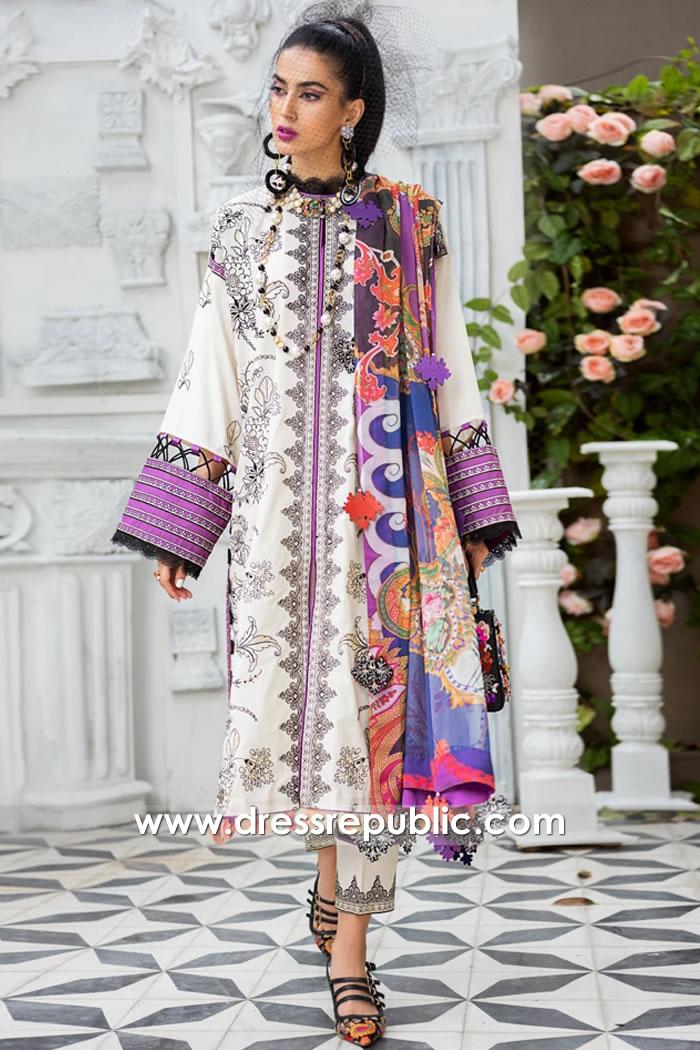 DRP1188 Zaha Original Designer Stitched Lawn Suits Ontario, Quebec, Alberta