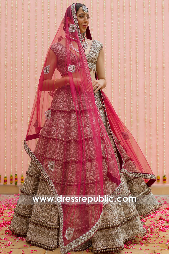 DR15813 Wedding Lehenga Choli For Summer 2020 Buy in New York, USA