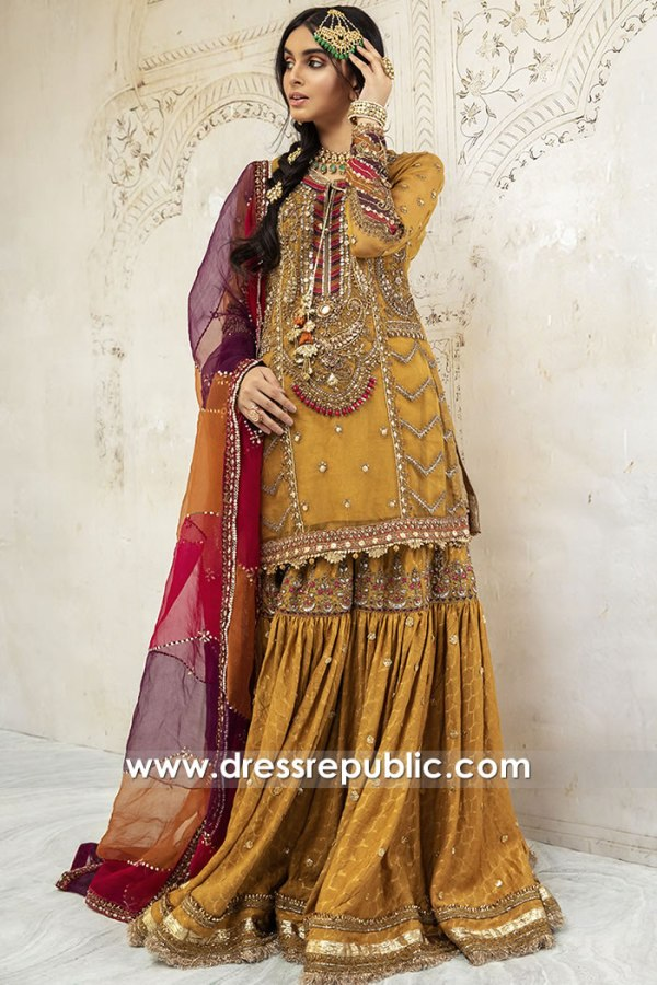 DR15902 Pakistani Designer Gharara 2020 USA Buy Online in New York, Texas