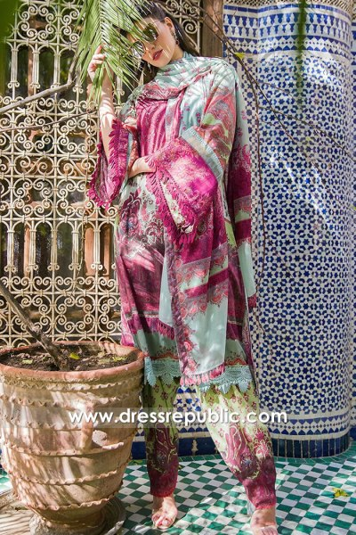 DRP1656B Sobia Nazir Luxury Lawn 2020 Qatar, Kuwait, Bahrain, Oman, Brunei