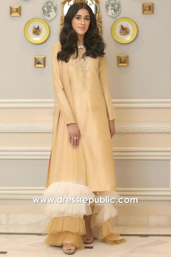 DR15917 Pakistani Designer Casual and Party Dresses 2020 Winter Collection