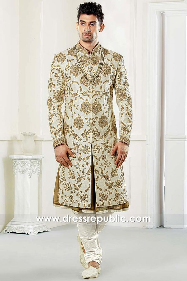 DRM5500 Bespoke Bridegroom Sherwani Collection 2020 Buy in New York, USA