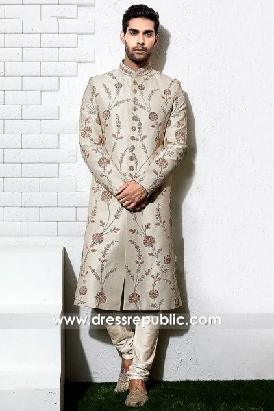 DRM5506 Groom Sherwani 2020 Collection Buy in Hicksville, Jackson Heights, NY