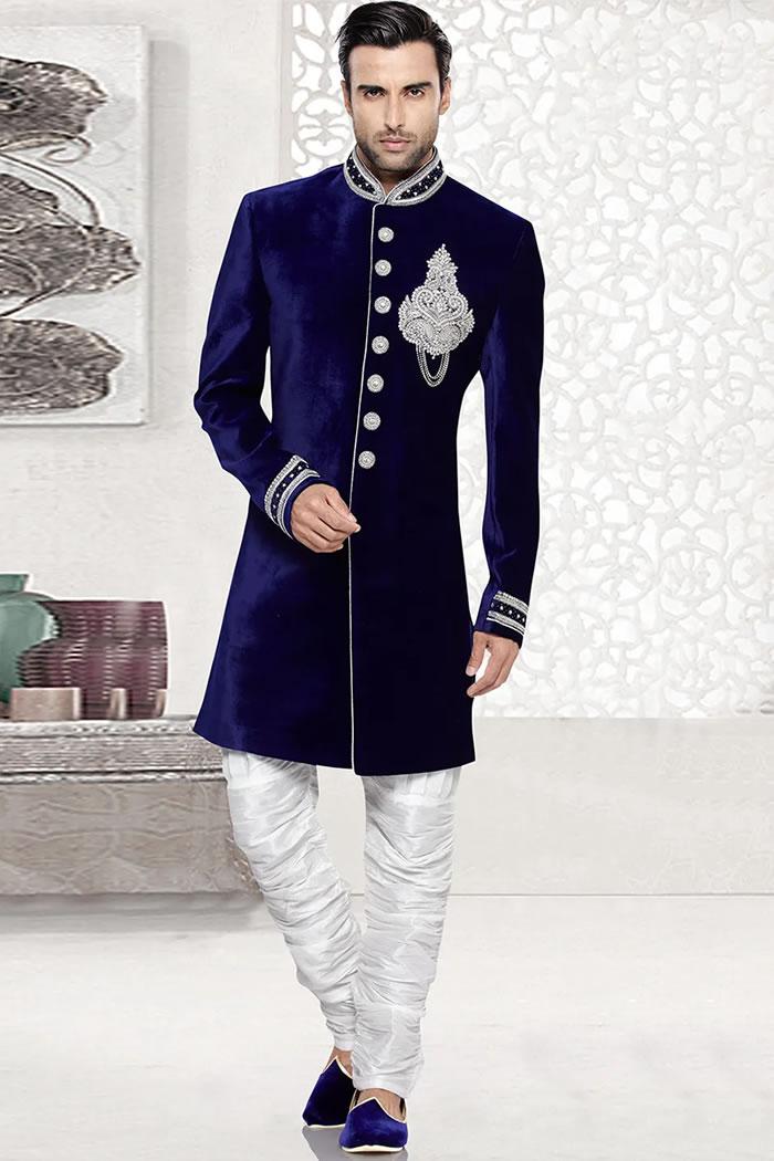 DRM5524 Indian Designer Sherwani, Jodhpuri, Bandhgala, Sherwani Online USA
