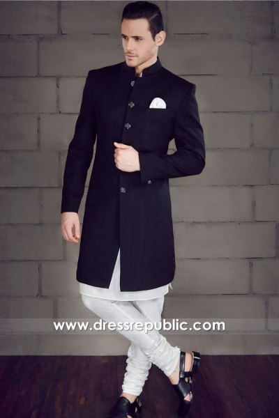 DRM5527 Sherwani With Kurta and Churidar Pajamas 2020 Collection USA, Canada