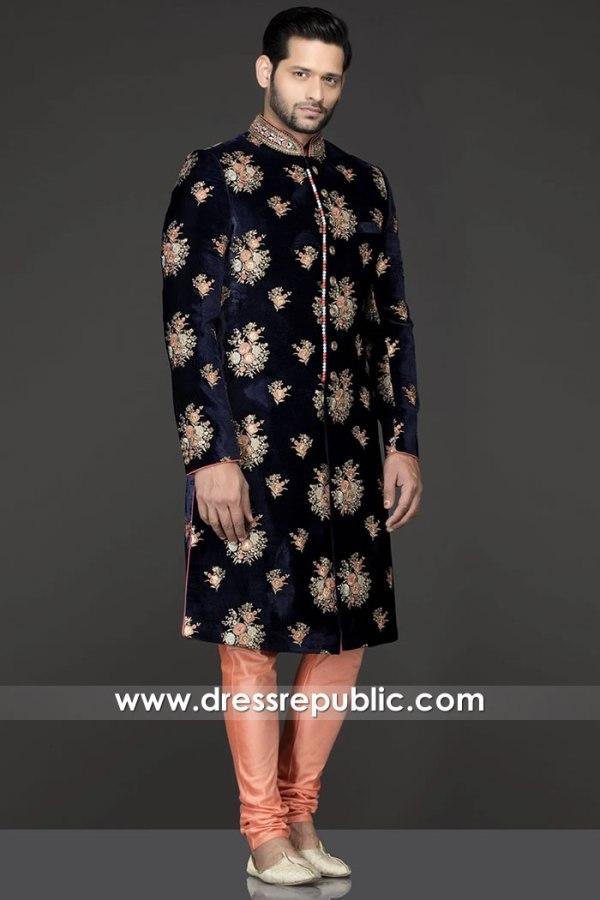 DRM5529 Junaid Jamshed Sherwani 2020 Buy in London, Manchester, Birmingham