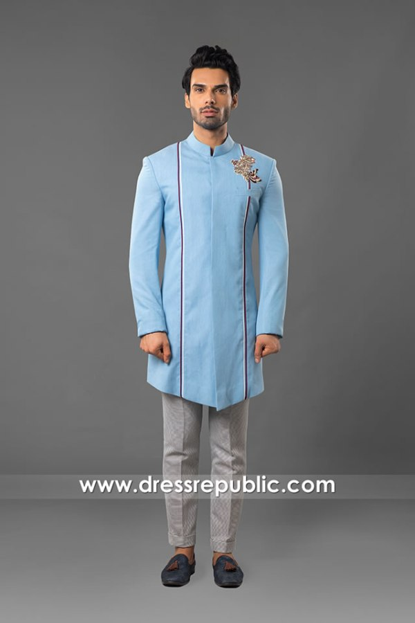 DRM5556 Stylist Wedding Sherwani Buy in Germany, Sweden, Denmark, Holland