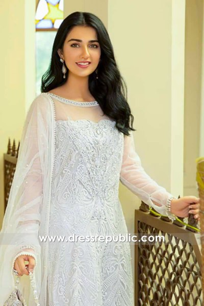 DR15982c Actress Sara Khan White Sharara
