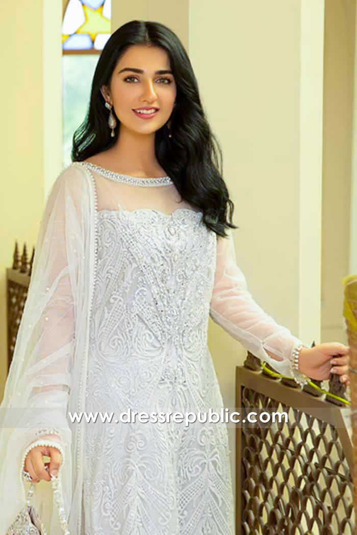 DR15982c Actress Sara Khan White Sharara