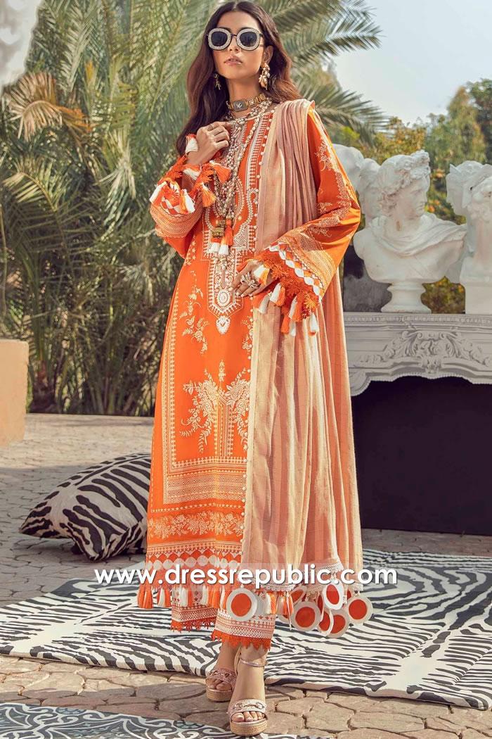 DRP2226 Buy Sana Safinaz Muzlin Spring 2021 in USA With Stitching Price