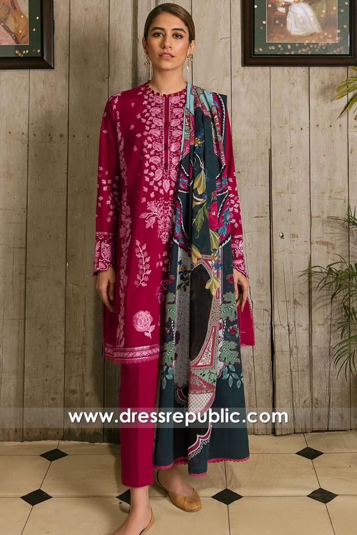 DRP2341 Zaha Lawn 2021 | Cotton Dresses for Hot Summer | Cotton Prints Dresses