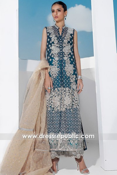 DR16060 Wedding Guest Pakistani Dress 2021 Online in New York, New Jersey