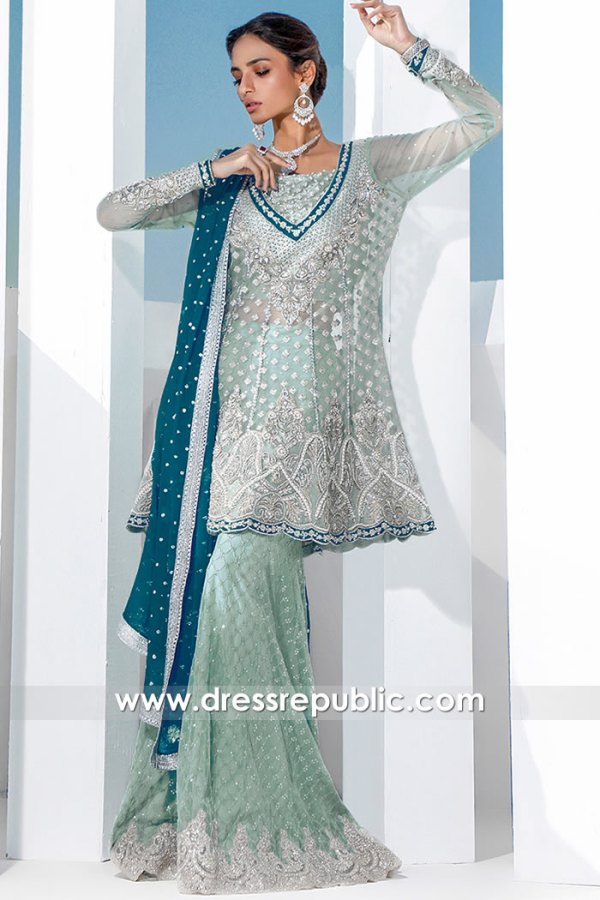 DR16062 Bridal Dress for Valima, Walima Gharara 2021 Online UK, USA, Canada
