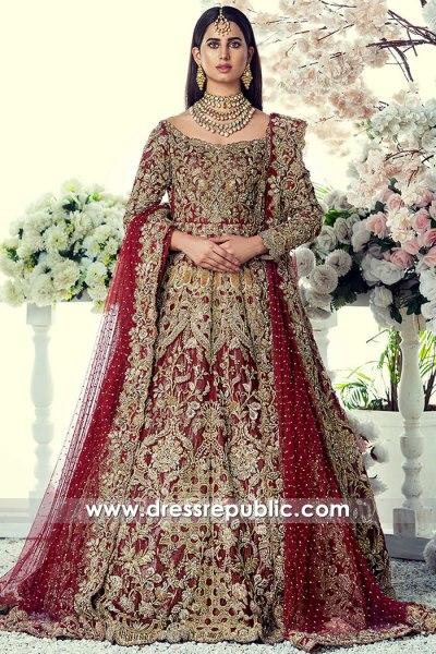 DR16074 Deep Red Wedding Dress Buy Online in New York, California, Texas, USA