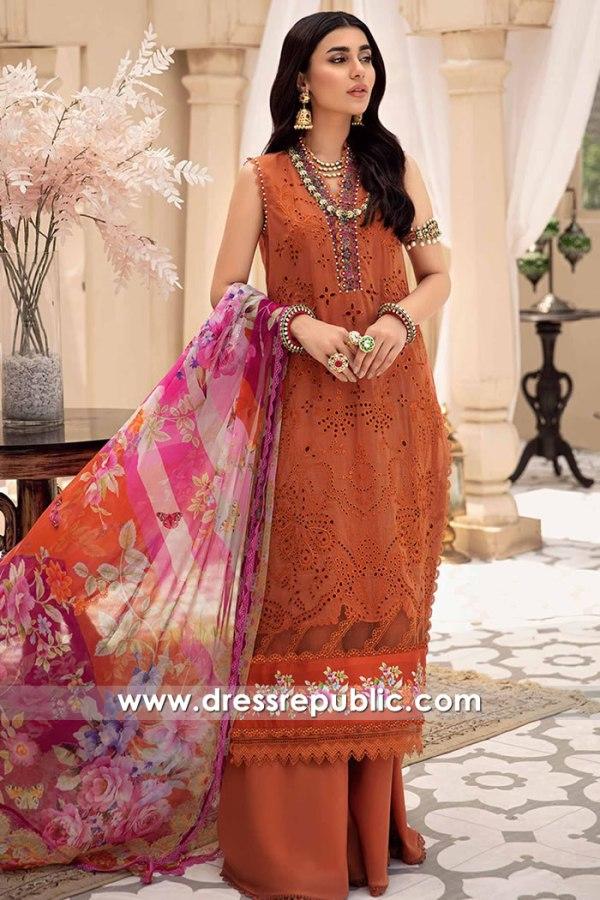 DRP2641 Noor Eid Chikankari Belgium, France, Turkey, Switzerland, Germany, Italy