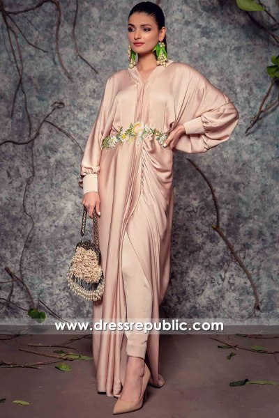 DR16146 Pakistani Designer Lounge Wear, Evening Gowns Buy Online in USA