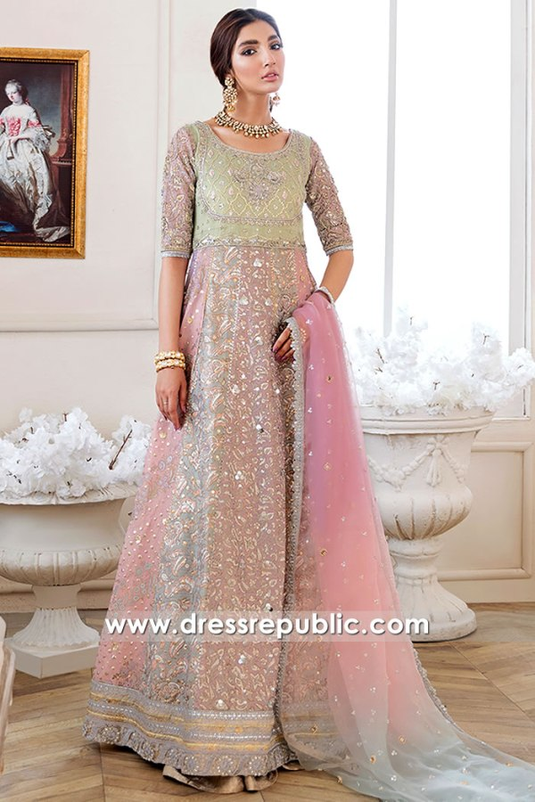 DR16167 Multi Colored Anarkali Dress Buy Online in New York, New Jersey, USA