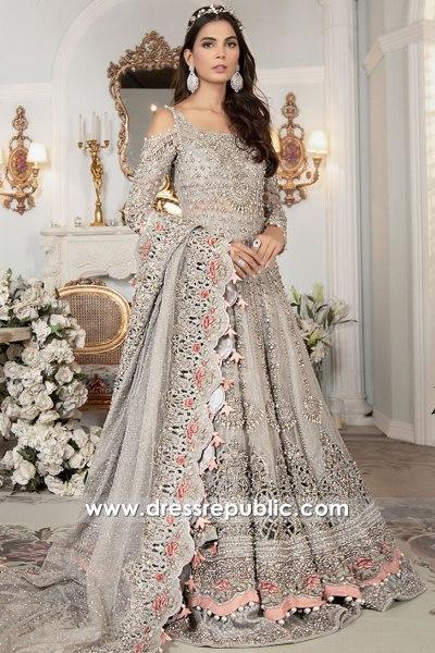 DR16176 Fall Winter Bridal Lehenga Choli Pakistani Indian Walima Reception 2021