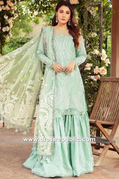DRP2720 Maria B Sateen 2021 Stitched Lawn Suit Shops in USA, Canada, UK