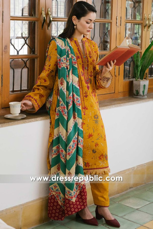 DRP2750 Coco Winter Stitched by Zara Shahjahan Available in USA, UK, Canada