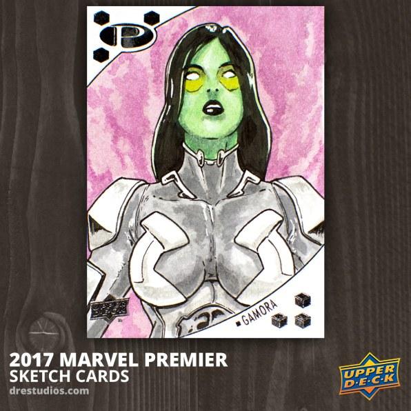 Gamora - Marvel Premier 2017 Sketch Card