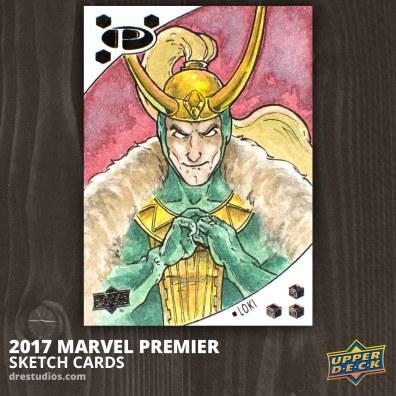 Loki - Marvel Premier 2017 Sketch Card